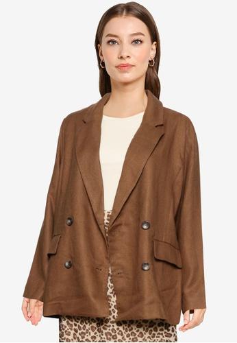 Heather brown Woven Jacket 884BCAA6BEA011GS_1