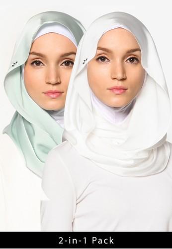 二入緞感頭巾,zalora 包包 ptt 飾品配件, 飾品配件