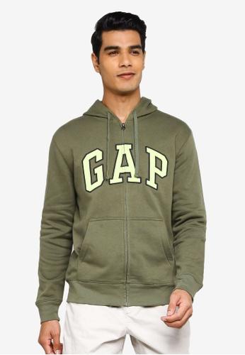 GAP green V-Heritage Logo Hoodie 3C857AA4D04513GS_1