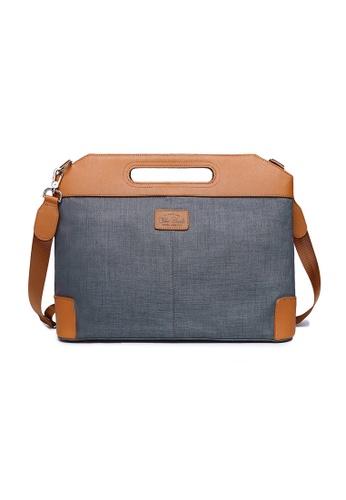 The Dude grey Vigor Briefcase TH373AC31CRCHK_1