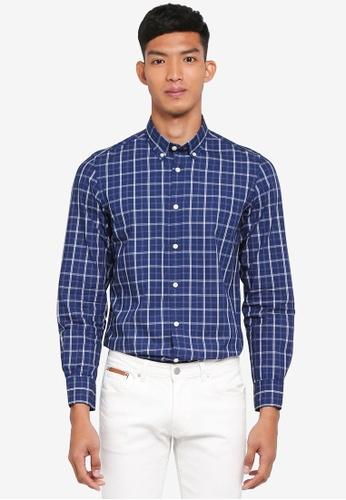OVS blue and multi Checkered Casual Shirt 98EB3AA2E50BEBGS_1