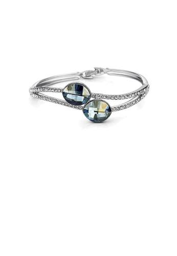Glamorousky blue Elegant Blue Austrian Element Crystal Bangle EC54AACAF2B504GS_1