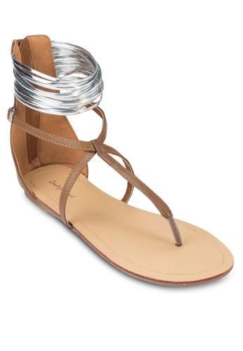 時尚踝帶夾腳涼鞋, 女鞋, zalora 台灣鞋