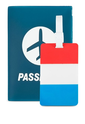 zalora 評價護照夾及法國國旗行李吊牌套組, 飾品配件, 男裝配件