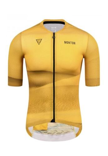 MONTON yellow Monton jersey men short sleeve desert 9A298AA022BA19GS_1