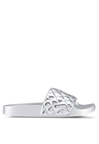 Something Borrowed silver Metallic Quilted Slip ons DB56CSHFC69F51GS_1
