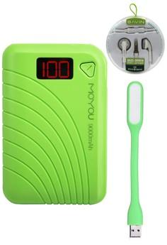 Moyou 9000mAh Powerbank With FREE Bavin SuperBass Earphones