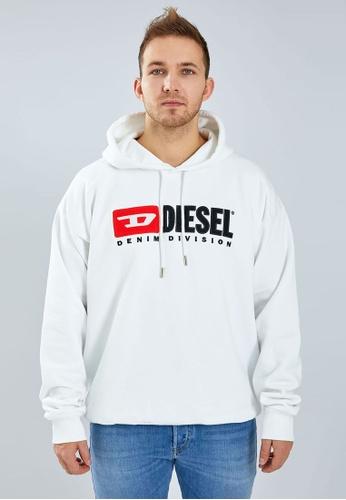Diesel 白色 S-DIVISION FELPA Hoodie CAB7AAAEC376DCGS_1