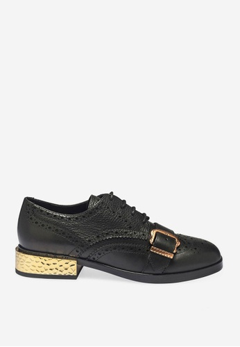 Ash 黑色 Freak - 黑色皮帶高跟鞋 C958BSHC329398GS_1