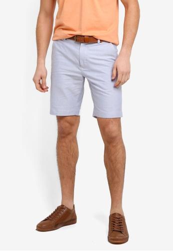 Brooks Brothers 海軍藍色 素色休閒短褲 80515AAFFE0E21GS_1