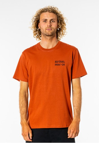 Rip Curl red Coil Tee - Red Dirt A02EAAAE4AAF49GS_1