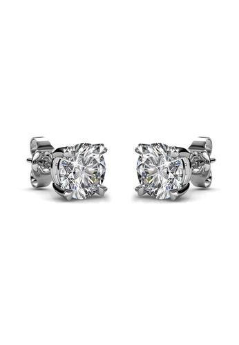 Her Jewellery silver Swarovski® Crystals - SweetHeart Earrings (18K White Gold Plated) Her Jewellery HE581AC0RAK9MY_1
