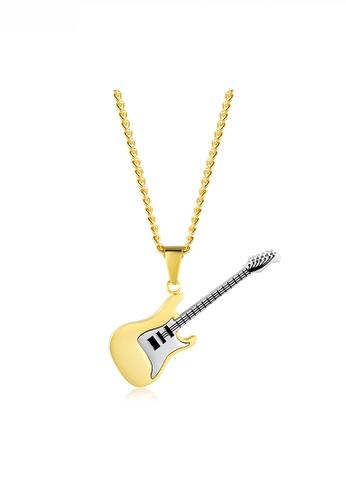 HAPPY FRIDAYS gold Guitar Pendant Necklace JW QF-DZ147 4CC59AC7D87DFBGS_1