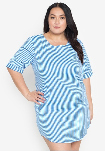 Amelia blue Plus Size Ienne Dress 4D231AAF44AD18GS_1