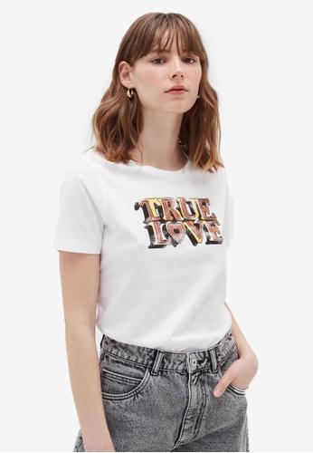 OVS white Casual T-Shirt 71043AA37C1170GS_1