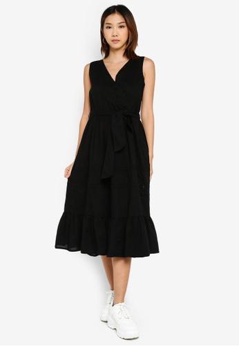 ONLY 黑色 蕾絲拼接洋裝 B4E91AA61B8785GS_1