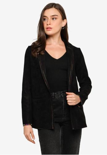 Desigual black Black Faux Suede Blazer AA5F2AA4FE0315GS_1
