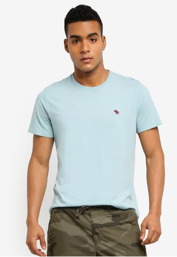 Abercrombie & Fitch blue Single Icon Crew T-Shirt 23B1FAA7726D56GS_1