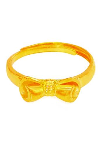 YOUNIQ gold YOUNIQ Premium Ribbon 24K Plated Ring (Gold) YO999AC32SFJMY_1