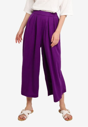 niko and ... purple Wide Cropped Pants 367F7AAC738379GS_1