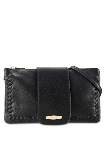 Perllini&Mel black Faux Leather Sling Bag PE444AC70WLDMY_1