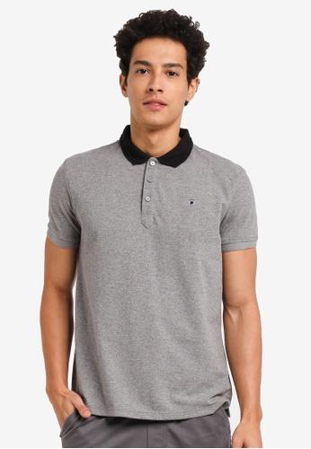 Penshoppe grey Melange Polo Shirt 9C011AA3CE43F6GS_1