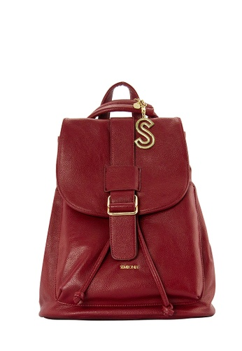SEMBONIA red SEMBONIA Synthetic Leather Backpack (Red) 009ABACC62C997GS_1