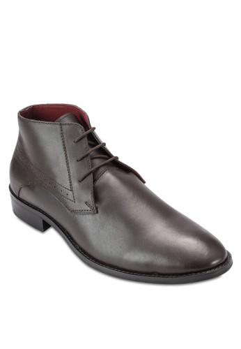 雕花低筒皮鞋,esprit 會員 鞋, 鞋