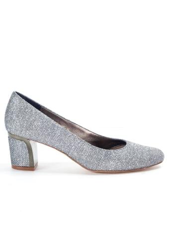 Shu Talk 銀色 熱賣閃爍粗跟高跟鞋 1A515SHBB5D6B5GS_1
