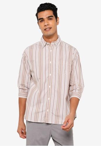 RAGEBLUE brown Half Sleeve Shirt 64053AA301A228GS_1