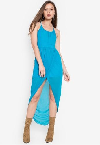 Twenteen blue Aubrey Overlap Chiffon Hem Dress TW408AA0KHSDPH_1