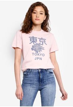 a619a183f OVS pink Graphic T-Shirt 19A05AAB85E498GS_1