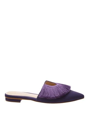 SCHUTZ purple Dark Purple Flat Mule  - BRANDY [DARK GRAPE] 0387FSH4F31C6DGS_1