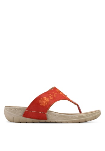 Alfio Raldo orange Slip-On Sandals 51D38SH6EA2932GS_1