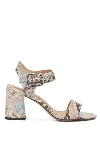 London Rag 粉紅色 粉色蛇纹高跟粗跟凉鞋 BB1D8SH6F04758GS_1