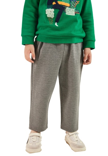 M.Latin grey Straight Cut Sweatpants with Denim Backpocket B7587KA440598FGS_1