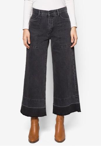 zalora退貨水洗牛仔喇叭長褲, 服飾, 服飾