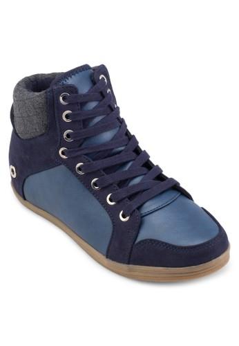 Wewien 拼色高筒運動鞋,esprit hk 女鞋, 鞋