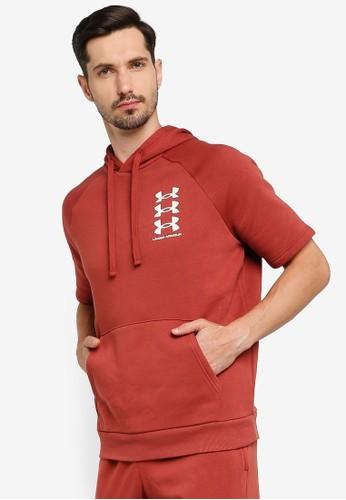 Under Armour red UA Rival Fleece 3Logo Short Sleeve Hoodie A6BE9AA1D2983BGS_1