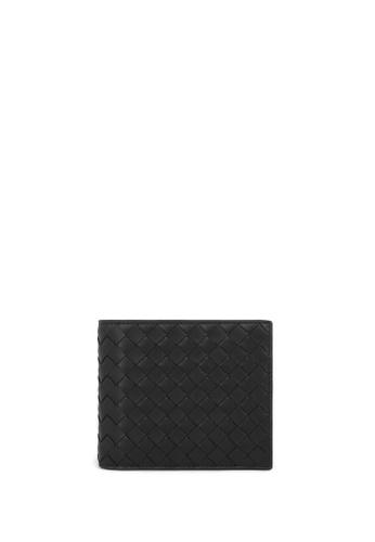 BOTTEGA VENETA black Wallet in Intrecciato VN 4D4B8AC4A779FDGS_1