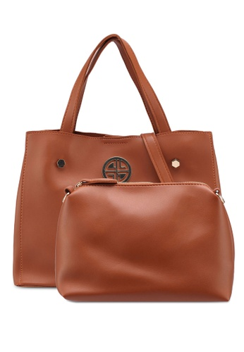 Carlton London brown Sofia Top Handle Bag 0C152ACE04B92BGS_1