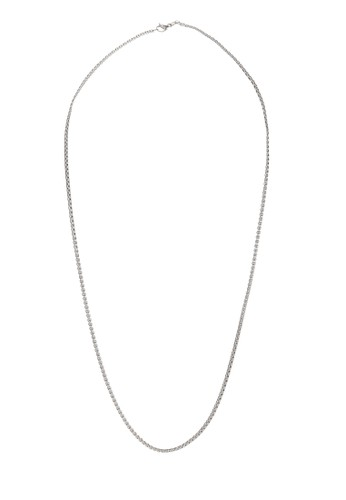 Prestige Collective silver Rounded Box Chain Necklace 08AE1ACF61F5D8GS_1