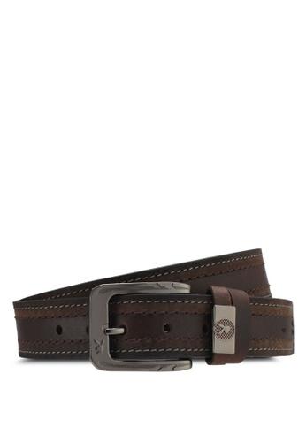 Playboy brown Playboy 40mm Faux Leather Belt PL371AC0SMBRMY_1