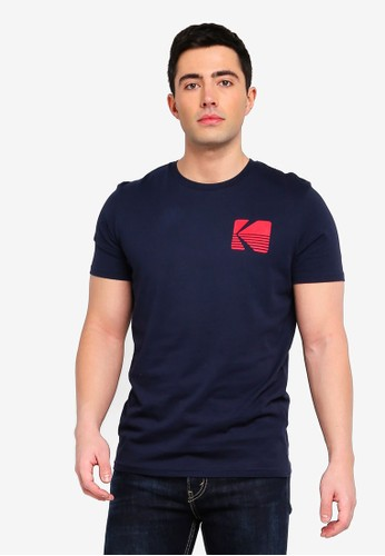 Jack & Jones navy Jorsnap Printed Tee 6F432AAB774A37GS_1