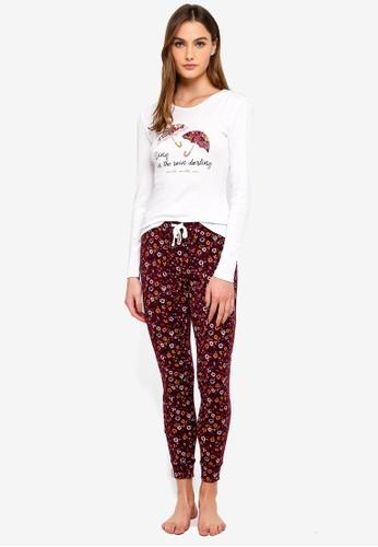 OVS white Floral Pattern Pyjamas 0913BAABBFDDCBGS_1