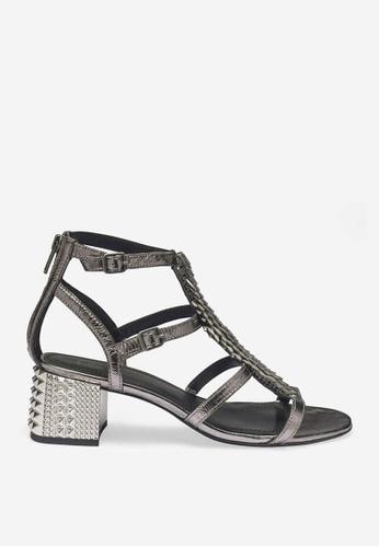 ASH silver Rebel - Silver Strap Sandals 99113SHE8B2E2FGS_1