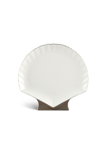 Minh Long I Fish & Clam: Porcelain Shell-Shaped Plate (28cm) 912E6HL7FC0275GS_1