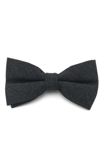 Caveman black Black Wool Pre-Tied Bowtie F3983AC947906DGS_1