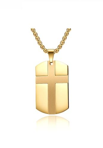 HAPPY FRIDAYS gold Cross Army Necklace JW QF-DZ379 AF344AC9BAB7EFGS_1