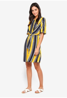 7f8680fedc44d 58% OFF Dorothy Perkins Yellow And Navy Stripe Dress S  89.90 NOW S  37.90  Sizes 6 8 10